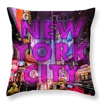 New York City - Color Throw Pillow