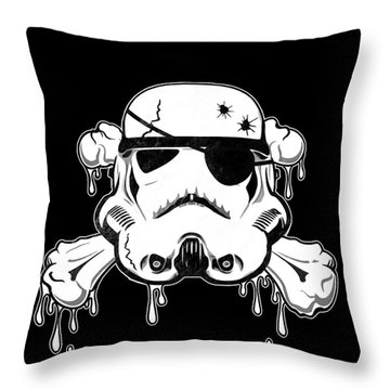 Pirate Trooper Throw Pillow by Nicklas Gustafsson