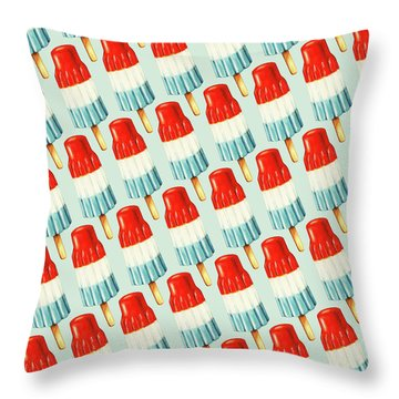 Bomb Pop Pattern Throw Pillow