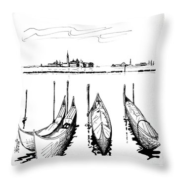 Venice Throw Pillow by Andrew Cravello