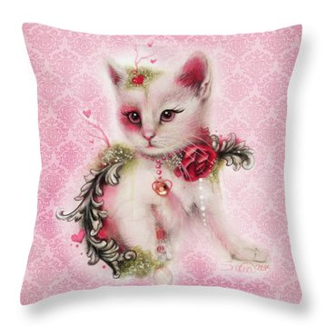 Love Is In The Air Throw Pillow by Sheena Pike
