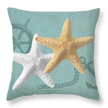 Nautical Stars Throw Pillow
