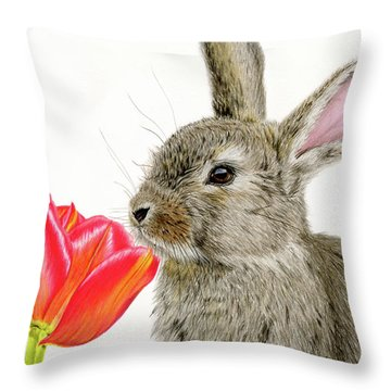Smells Like Spring Throw Pillow