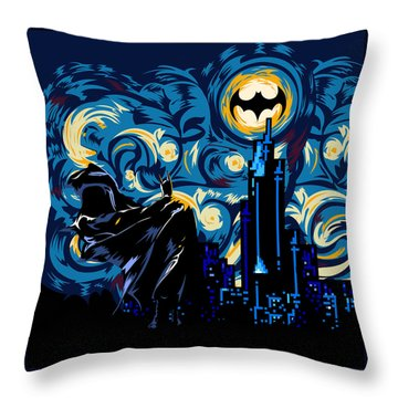 Starry Knight Throw Pillow by Three Second