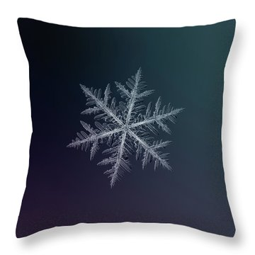 Snowflake Photo - Neon Throw Pillow