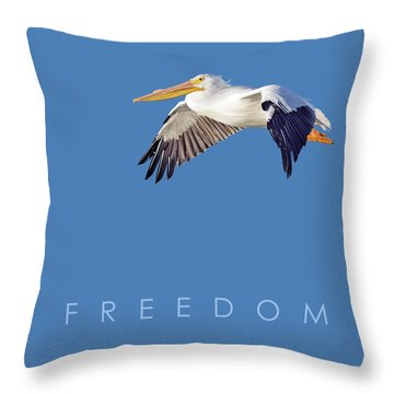 Throw Pillow featuring the digital art Blue Series 003 Freedom by Rob Snow