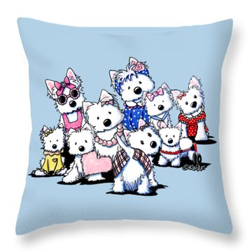 International Westie Women Throw Pillow