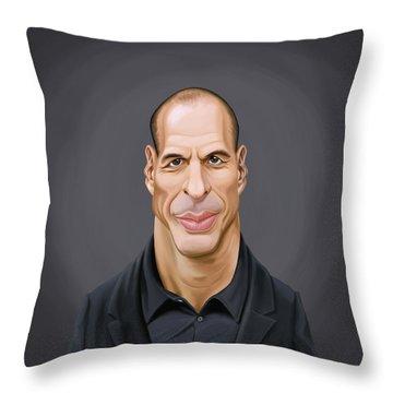 Celebrity Sunday - Yanis Varoufakis Throw Pillow