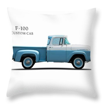 Ford F-100 1958 Throw Pillow