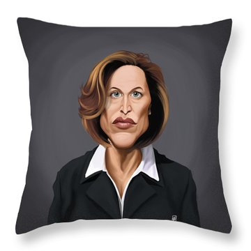 Celebrity Sunday - Gillian Anderson Throw Pillow