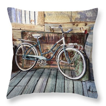 Roadmaster Bicycle Throw Pillow