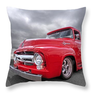 Red F-100 Throw Pillow