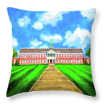 Old Main - Andalusia High School Throw Pillow by Mark E Tisdale