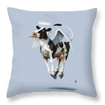 Holy Cow Colour Throw Pillow