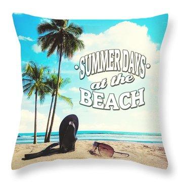 Palm Trees Throw Pillows