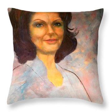 Selfportrait Throw Pillow