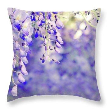 Wisteria Watercolor Throw Pillow