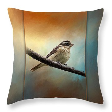 Wisconsin Songbird Throw Pillow