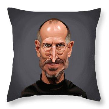 Celebrity Sunday - Steve Jobs Throw Pillow