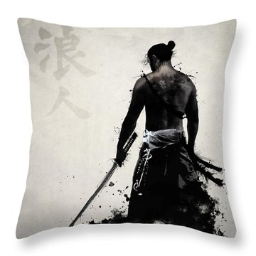 Ronin Throw Pillow by Nicklas Gustafsson