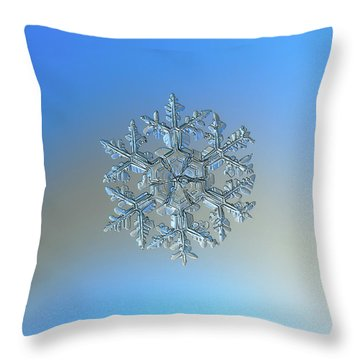 Snowflake Photo - Gardener's Dream Throw Pillow