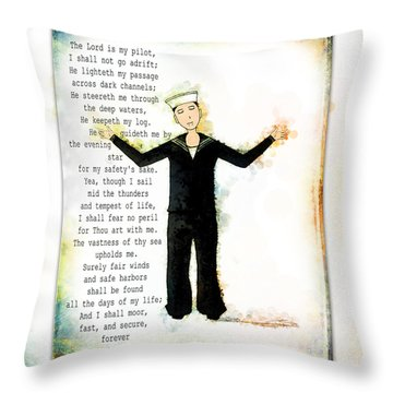 Sailor's Prayer Throw Pillow