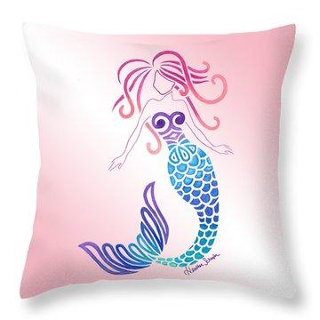 Tribal Mermaid Throw Pillow