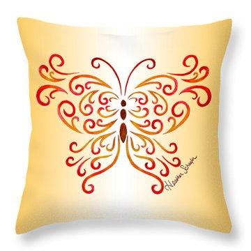Tribal Butterfly Throw Pillow