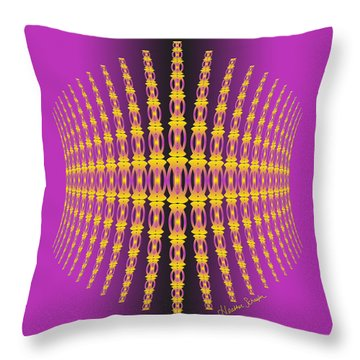 Purple And Gold Crown Throw Pillow