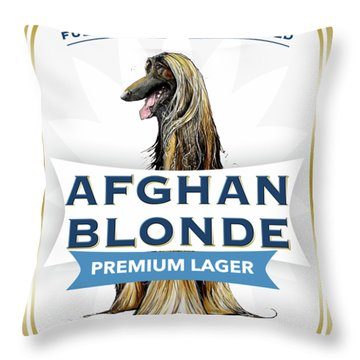 Afghan Blonde Premium Lager Throw Pillow