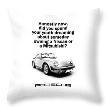 Dreaming Of A Porsche Throw Pillow