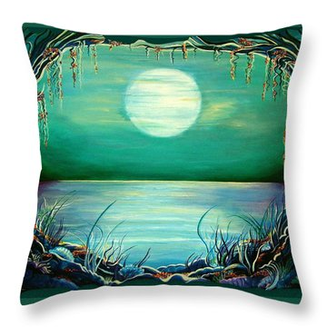 Turquoise Taunt Throw Pillow
