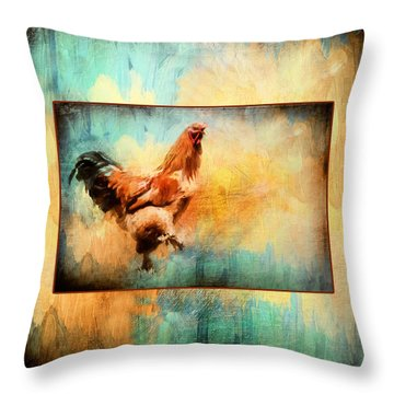 Buff Brahma Mrs. Darwin's Rooster  Throw Pillow