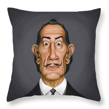 Celebrity Sunday - Salvador Dali Throw Pillow