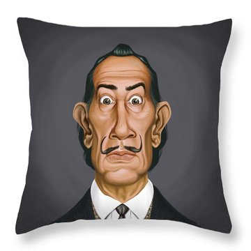 Celebrity Sunday - Salvador Dali Throw Pillow