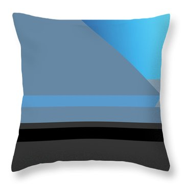 Symphony In Blue - Movement 1 - 2 Throw Pillow
