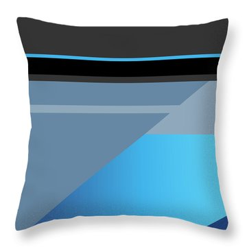 Symphony In Blue - Movement 1 - 3 Throw Pillow