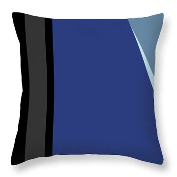 Symphony In Blue - Movement 3 - 1 Throw Pillow