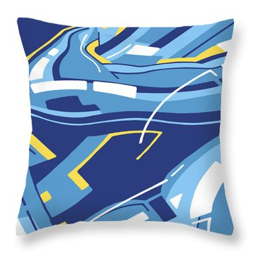 Symphony In Blue - Movement 4 - 3 Throw Pillow