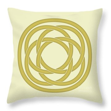 Gold Celtic Knot Throw Pillow