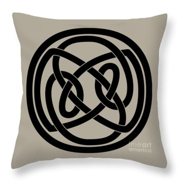 Black Celtic Knot Throw Pillow
