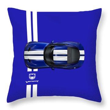 The Blue Viper Throw Pillow