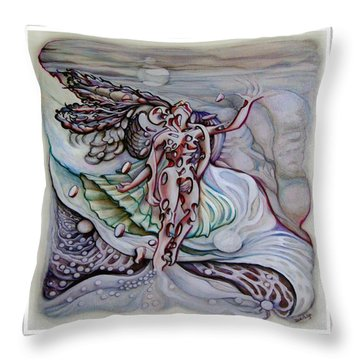 Lament A Wing Throw Pillow