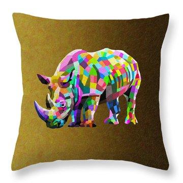 Wild Rainbow Throw Pillow