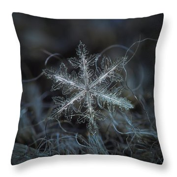 Leaves Of Ice Throw Pillow