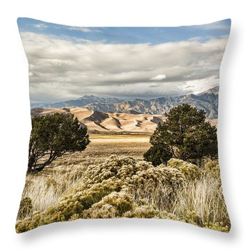 Great Sand Dunes National Park And Preserve Throw Pillow