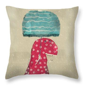 Its Raining Again Throw Pillow