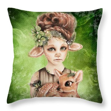 Faline - Only Friend In The World Collection Throw Pillow by Sheena Pike