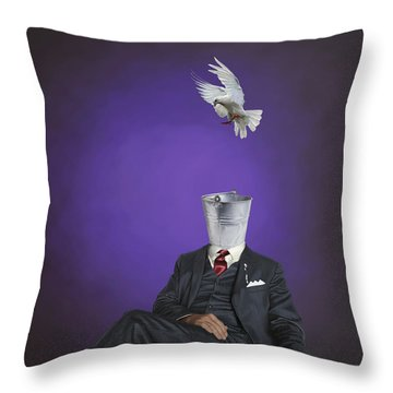 Throw Pillow featuring the drawing Capture by Rob Snow