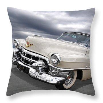 Cream Of The Crop - '53 Cadillac Throw Pillow